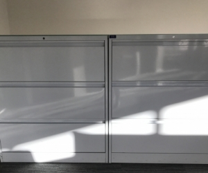2x Large White Filing Draws