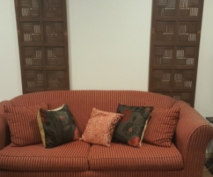 Myer sofa bed with matching scatter cushions - good condition.  Ad type: Free