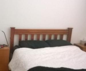 Bed frame only & 2 bedside cabinets wooden slats