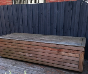 Day bed, toy box, outdoor lounge