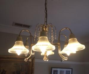 Pendant lights Gold & Crystal