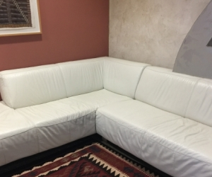 MODULAR LEATHER CORNER SOFA