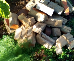 free white bricks for pavers or whatever