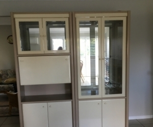 Two Display cabinets