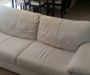 Tribeca 3 seater sofa couch - white bonded leather