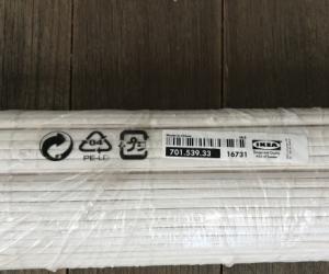 IKEA white bamboo roller blind