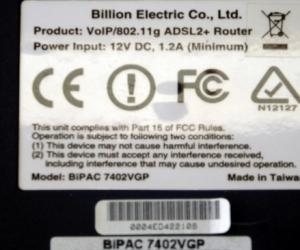 Wireless Router - Billion brand