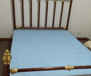 Queen bed frame and base ONLY