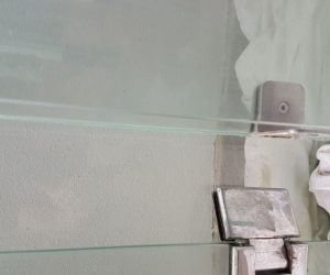 Glass shower screen panels x 3