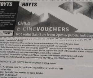 Hoyts Child Movie E-Voucher