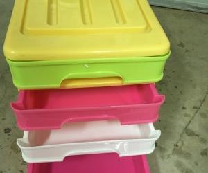 Plastic 4 drawer A4 organiser