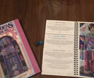 Tarot style flip book