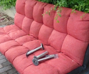 Sofa bed Red colour