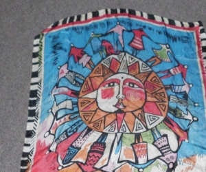 sun face scarf