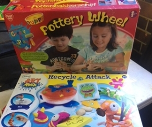 art and craft - Two Childrens pottery wheel