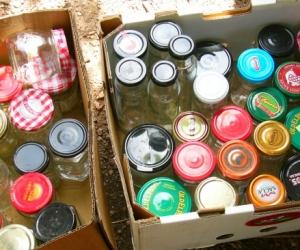 clean glass jars