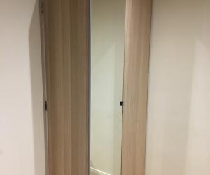 Ikea double doored wardrobe - white oak - 58 x 238 x 100cm
