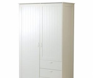 White IKEA 'Musken' wardrobe