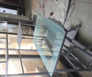Stylish glass desk