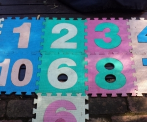 Kids numbers 1-10 foam mats