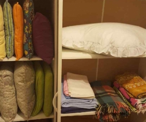 Cushions and towels