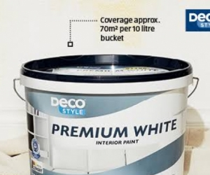 Aldi 10 L wall & ceiling paint white x 2