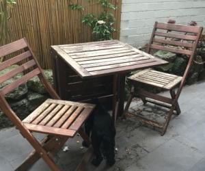 FREE Outdoor Setting Ikea Applaro Gateleg Table U0026 Two Folding Chairs