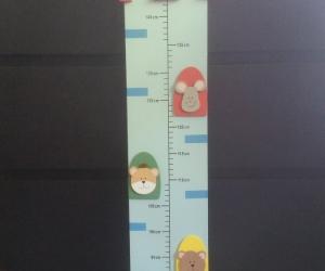 Children's wooden height chart
