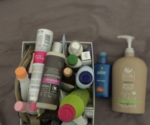 Free make up and bathroom items