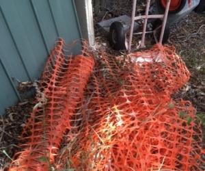Roll of orange safety meshing