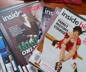 Pile of INSIDE HISTORY ancestry magazines