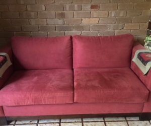 Free red couch - still available Mon 12/12