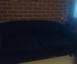 3 seater navy sofa