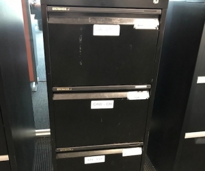 Three drawer filing cabinet - office or home use