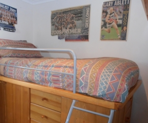 Bunk Bed with wardrobe and drawers