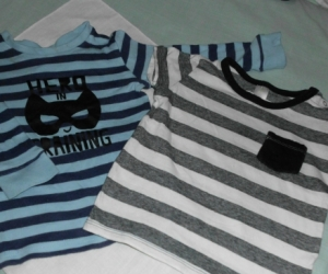 blue/black strip tops