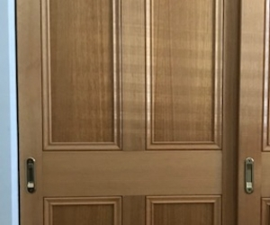 Free timber wardrobe sliding doors