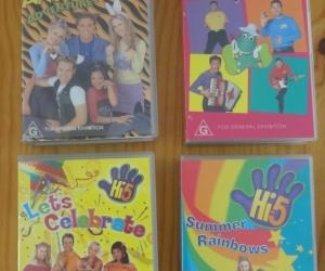 VHS tapes Hi 5 and The Wiggles. Pickup Blackburn