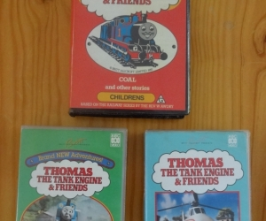 VHS tapes of Thomas the Tank Engine. Pickup Blackburn