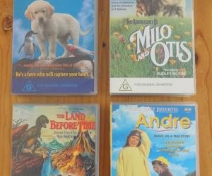 VHS tapes of children's movies. Pickup Blackburn