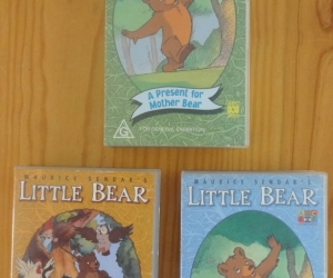 VHS tapes of Little Bear, ABC preschoolers series. Pickup Blackburn