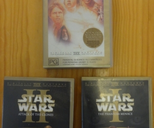 VHS tapes of Star Wars. Pickup Blackburn