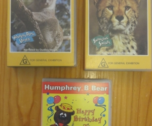 VHS tapes for preschoolers: Really Wild Animals and Humphrey Bear