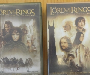 VHS tapes of Lord of the Rings. Pickup Blackburn