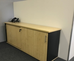 1.8 metre wide Birch Lockable Credenza