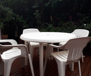 PVC Outdoor Setting - Table and 4 Chairs