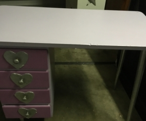 Purple children's desk
