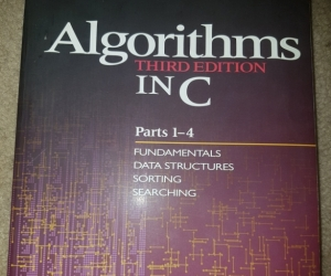 Text Book: Algorithms in C. 3rd Ed