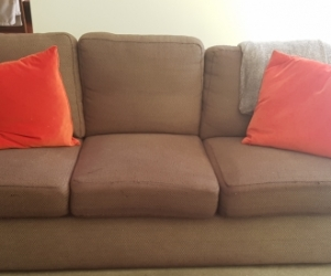 Super Comfy 3 seater Chocolate brown fabric sofa