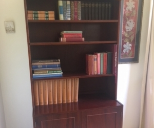 Wooden Bookshelf with cupboard